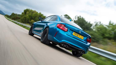 New BMW M2 Coupe UK - rear tracking