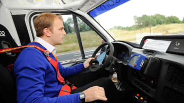 Joe drives Ford Rally Transit