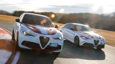 Alfa Romeo Giulia Quadrifoglio and Stelvio Quadrifoglio F1 - action