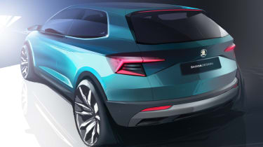 Skoda Karoq rear quarter sketch