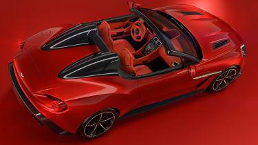 Aston Martin Vanquish Zagato Speedster - rear above