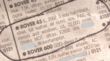 Classified advert