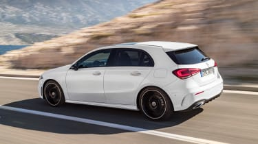 New Mercedes A-Class - white side action