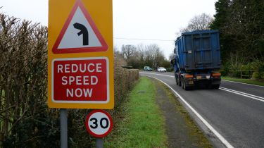 Britain's most dangerous roads revealed - slowing signs