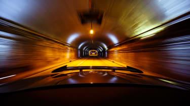 Jaguar F-Type SVR Tunnel Run - down tunnel