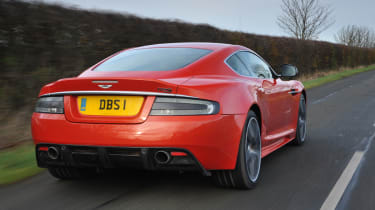 Aston Martin DBS Carbon Edition rear tracking