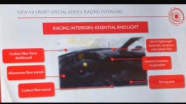 Ferrari 488 'GTO' presentation cabin