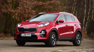 kia sportage action shot