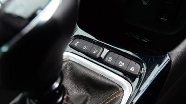 Vauxhall Crossland X - centre console close-up