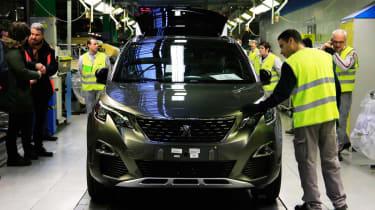 Peugeot's Sochaux factory 3008 front