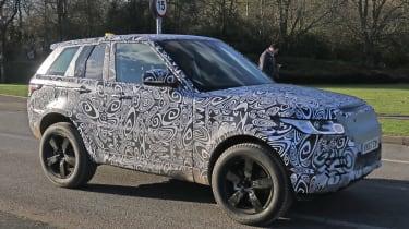 Land Rover Defender test mule front side
