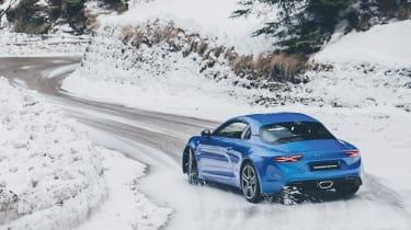 Alpine A110 sports car 2017 - rear cornering