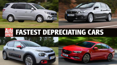 Fastest depreciating cars 2020 - header