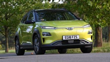 Hyundai Kona electric parked static