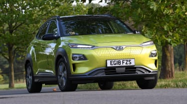 Hyundai Kona electric parked static