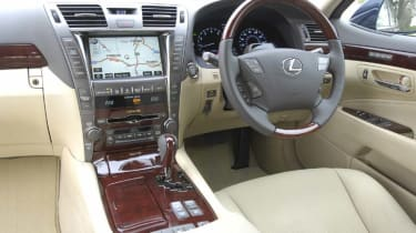 Lexus LS460 SE-L inside view