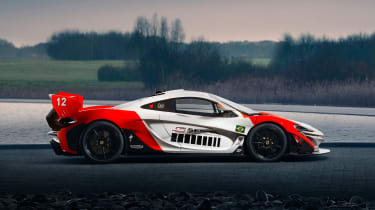 McLaren P1 GTR produced by MSO - side