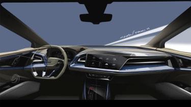 Audi Q4 e-tron concept - dashboard sketch