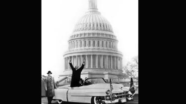 Dwight D. Eisenhower in a 1953 Cadillac Eldorado Convertible