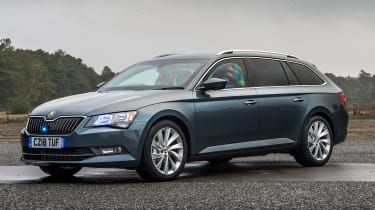 Skoda Superb Estate armoured car - front static