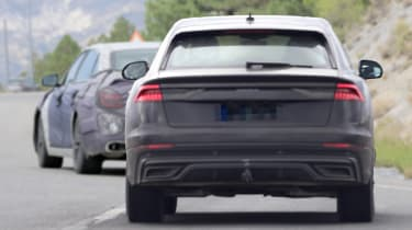 2018 Audi Q8 spy shot rear
