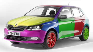Skoda Colour Concept system april fool