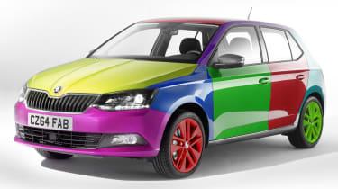 Skoda Colour Concept system april fool