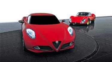 Alfa 4C vs 33 Stradale fronts