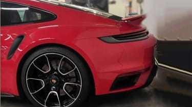 Porsche 911 Turbo S - rear static - spies