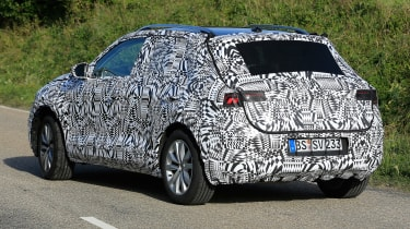 Volkswagen Polo SUV - spy shot rear cornering