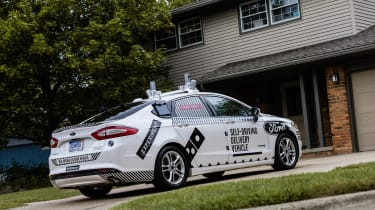 Ford Dominoes self-driving pizza delivery - rear