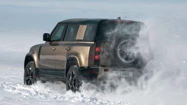 2019 Land Rover Defender in sand