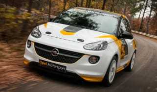 Opel Adam R2 rally car front tracking