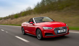 Audi S5 Cabriolet UK front tracking