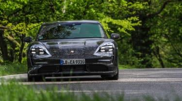 Porsche Taycan - front cornering