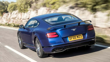 Bentley Continental Supersports 2017 - Moroccan Blue rear tracking