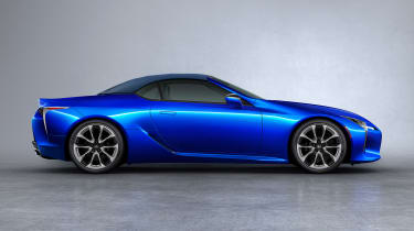Lexus LC Convertible - side blue roof up