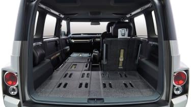 New Toyota Tj Cruiser concept - interior seats folded