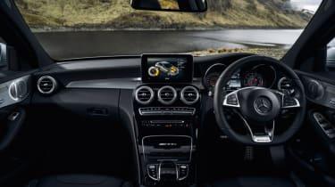 Mercedes C63 AMG saloon - interior front
