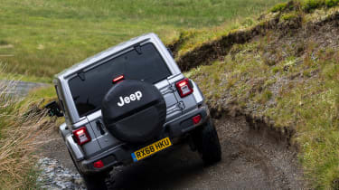Green Laning  - Jeep Wrangler tilting