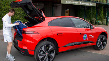 Andy Murray Jaguar I-Pace - boot