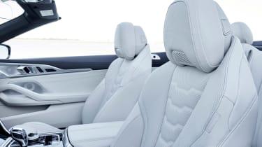 BMW 8 Series Convertible - seat detail
