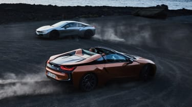 BMW i8 and i8 Roadster - action