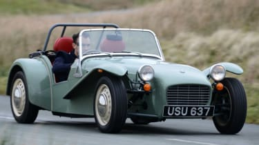 Caterham Seven road trip - front action