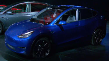 Tesla Model Y reveal - front quarter
