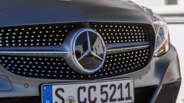 Mercedes C300 Coupe - grill detail