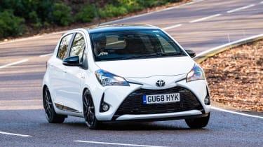 Toyota Yaris GR Sport - front cornering