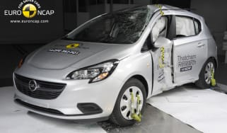 Euro NCAP crash test Vauxhall Corsa 2015