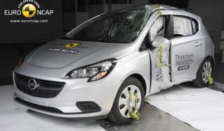 Euro NCAP crash test Vauxhall Corsa 2015