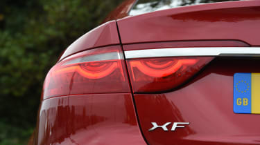Long-term test review: Jaguar XF - first report rear lights